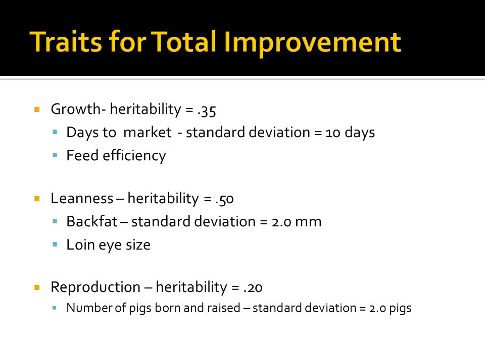 Traits for Total Improvement