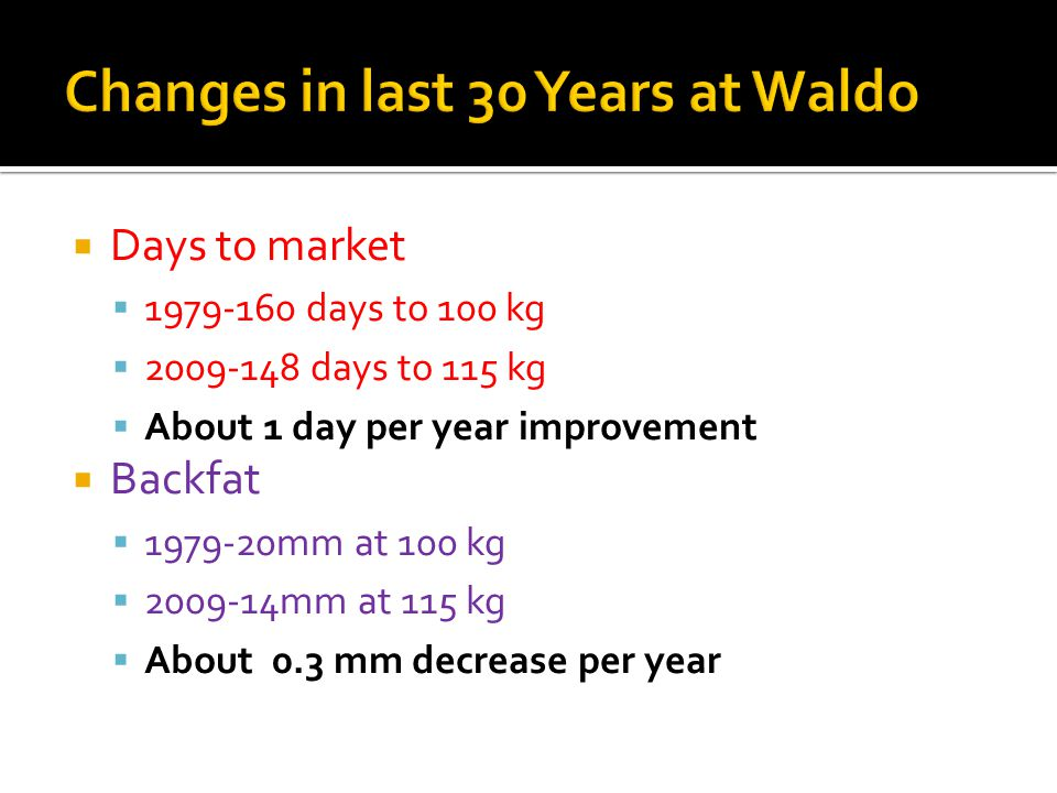 Changes in last 30 Years at Waldo