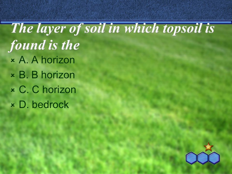 The layer of soil in which topsoil is found is the