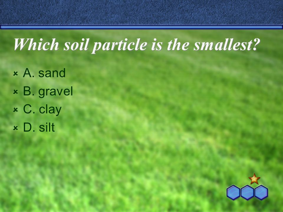 Which soil particle is the smallest