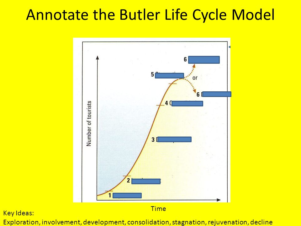 Annotate the Butler Life Cycle Model