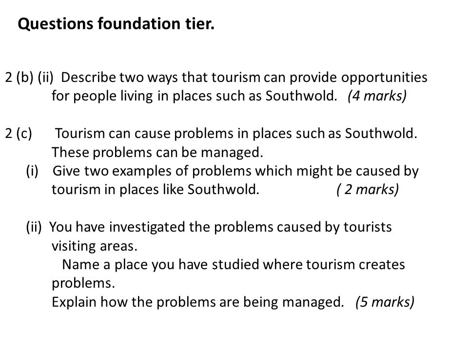 Questions foundation tier.