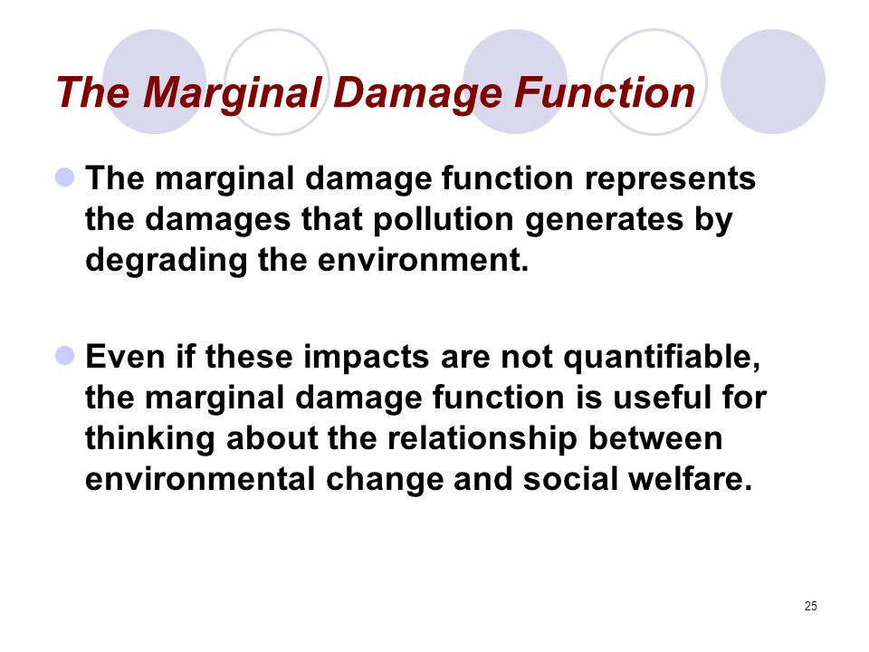 The Marginal Damage Function
