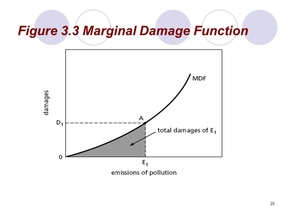 Figure 3.3 Marginal Damage Function