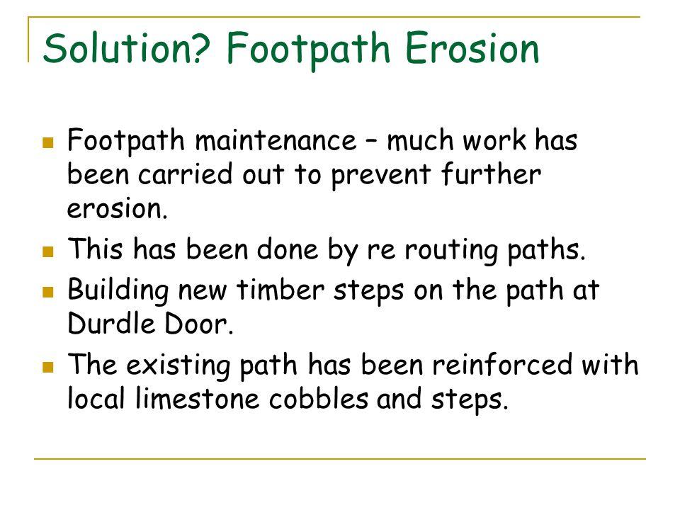 Solution Footpath Erosion