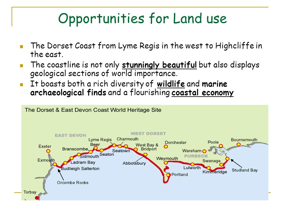 Opportunities for Land use