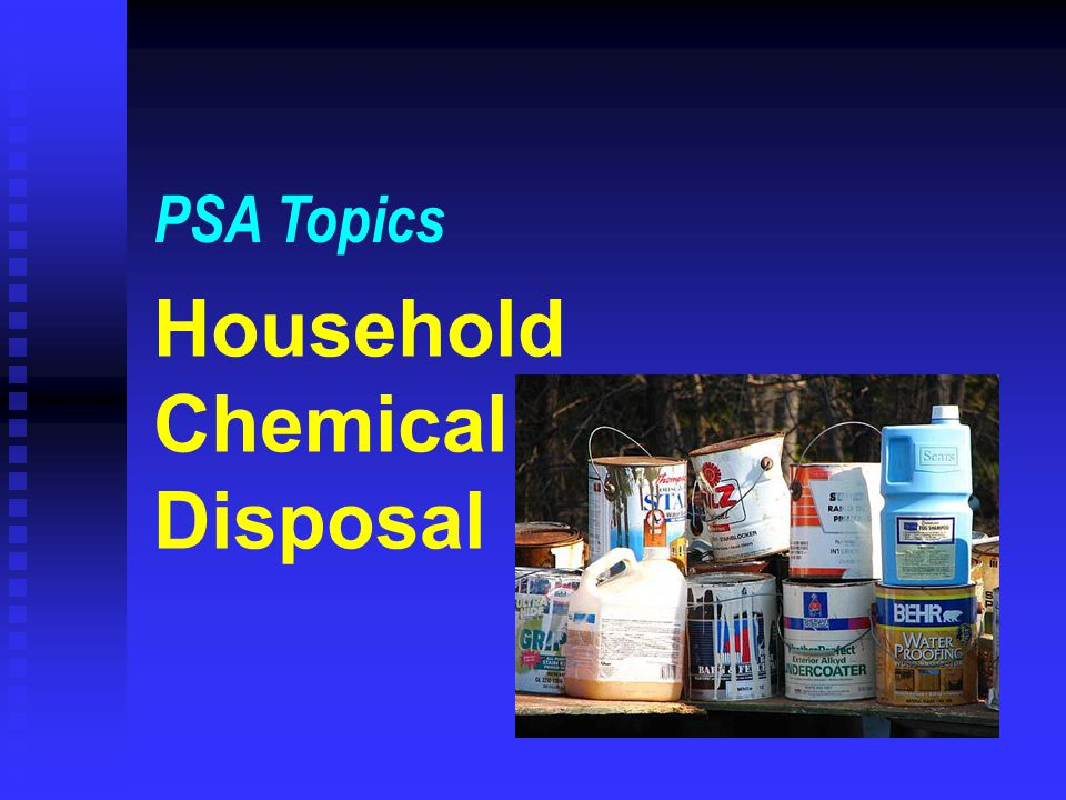 Household Chemical Disposal