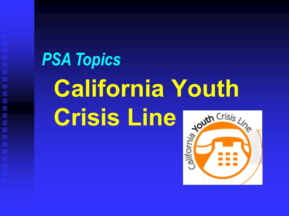 California Youth Crisis Line