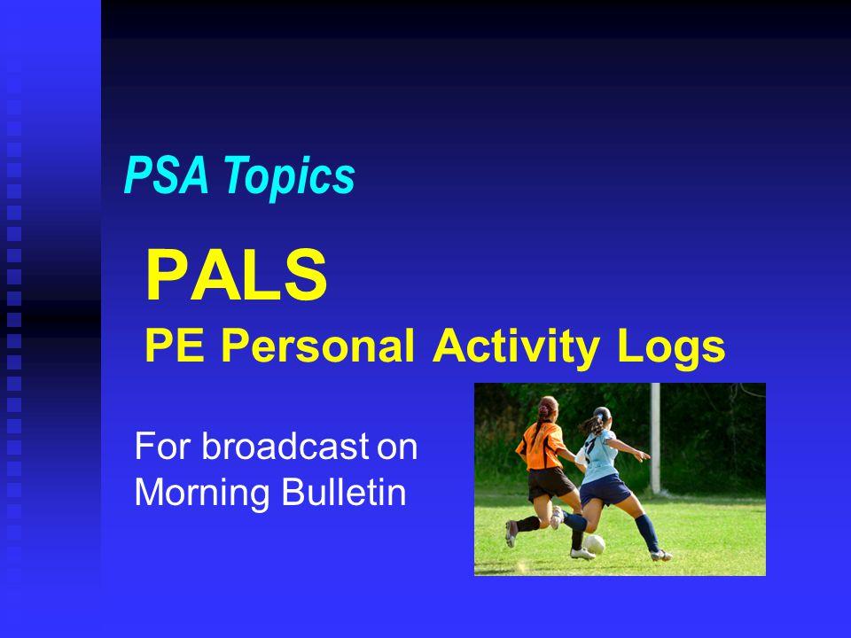 PALS PE Personal Activity Logs