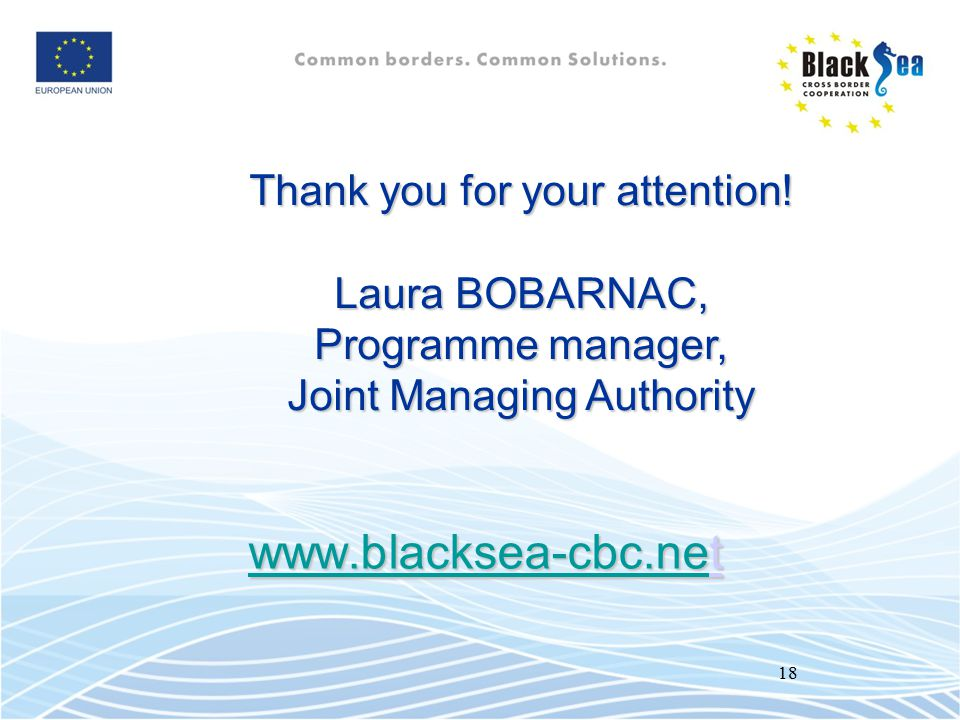 Thank you for your attention! Laura BOBARNAC, Programme manager,
