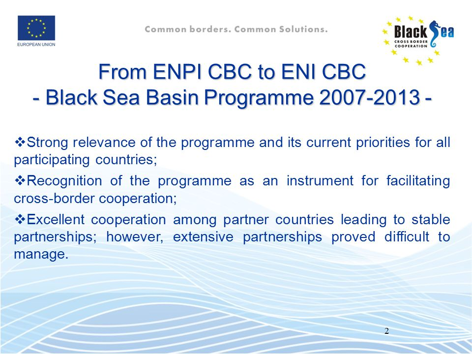 - Black Sea Basin Programme 2007-2013 -