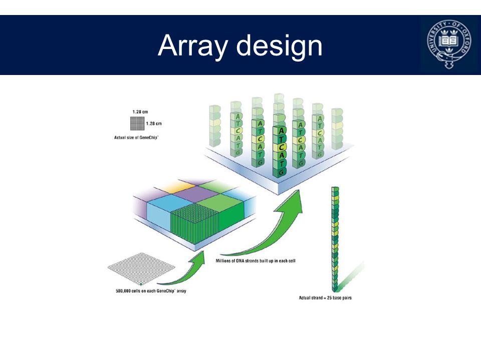 Array design