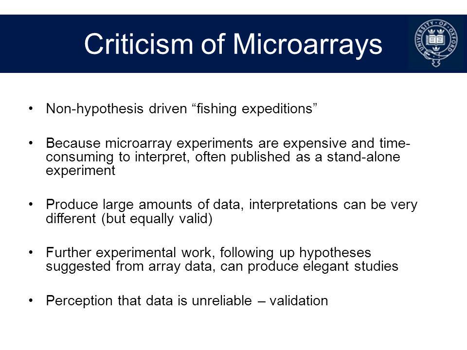 Criticism of Microarrays