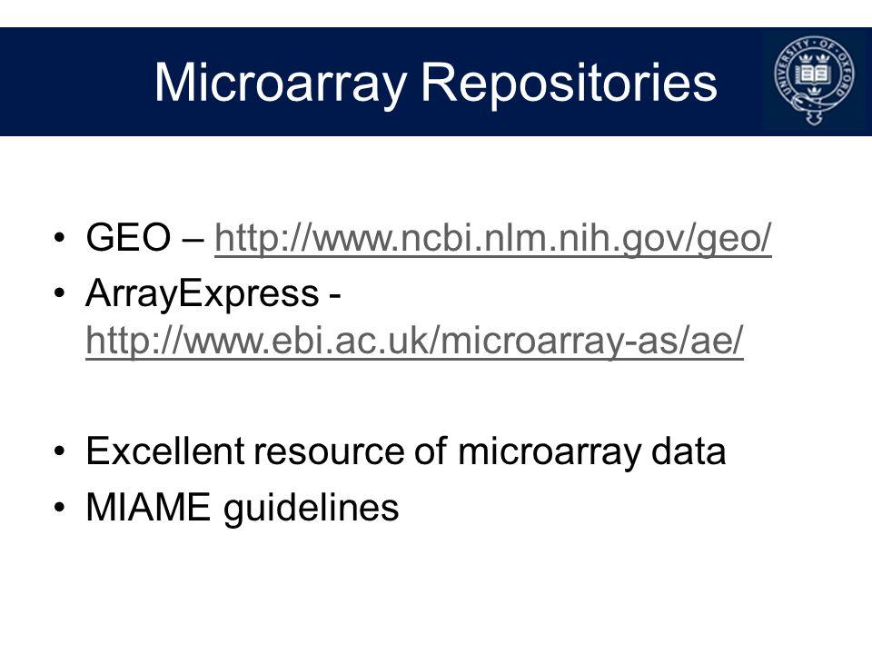 Microarray Repositories