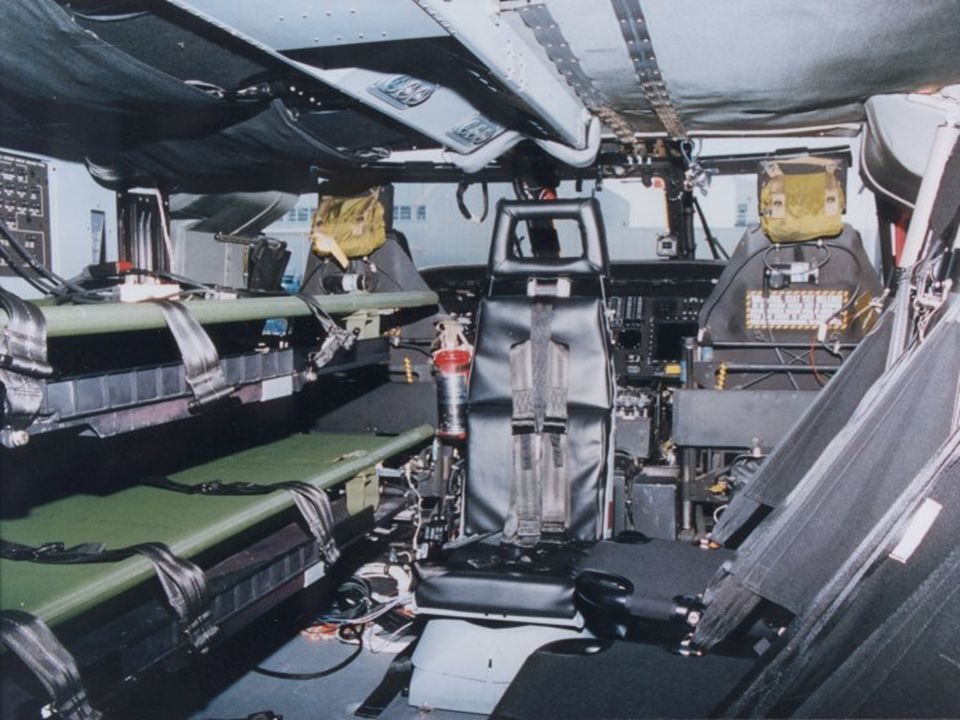 This is the inside of a UH-60Q MEDEVAC helicopter