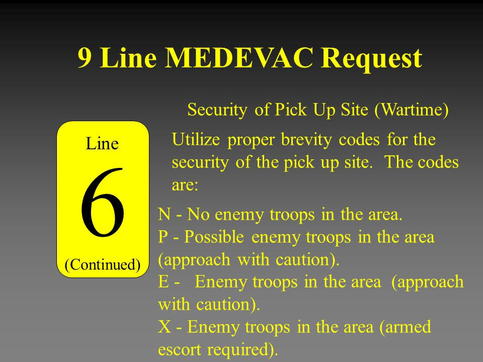 Security of Pick Up Site (Wartime)