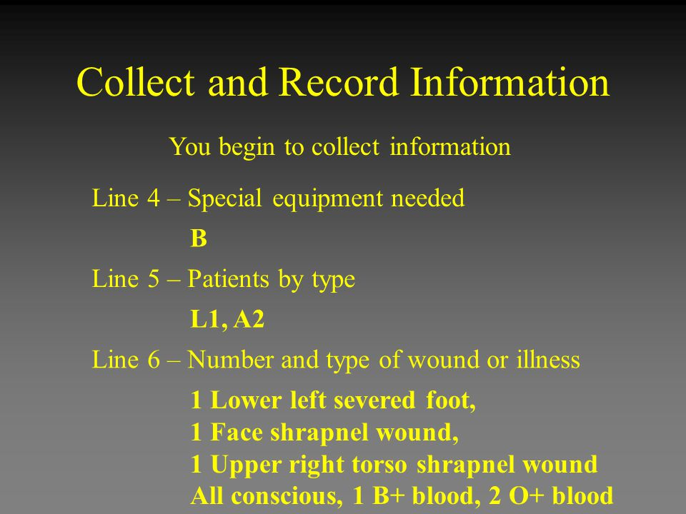 Collect and Record Information