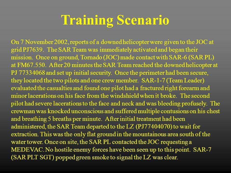 Training Scenario