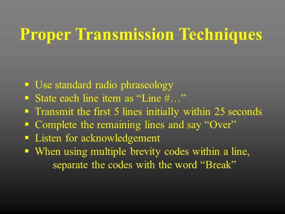 Proper Transmission Techniques