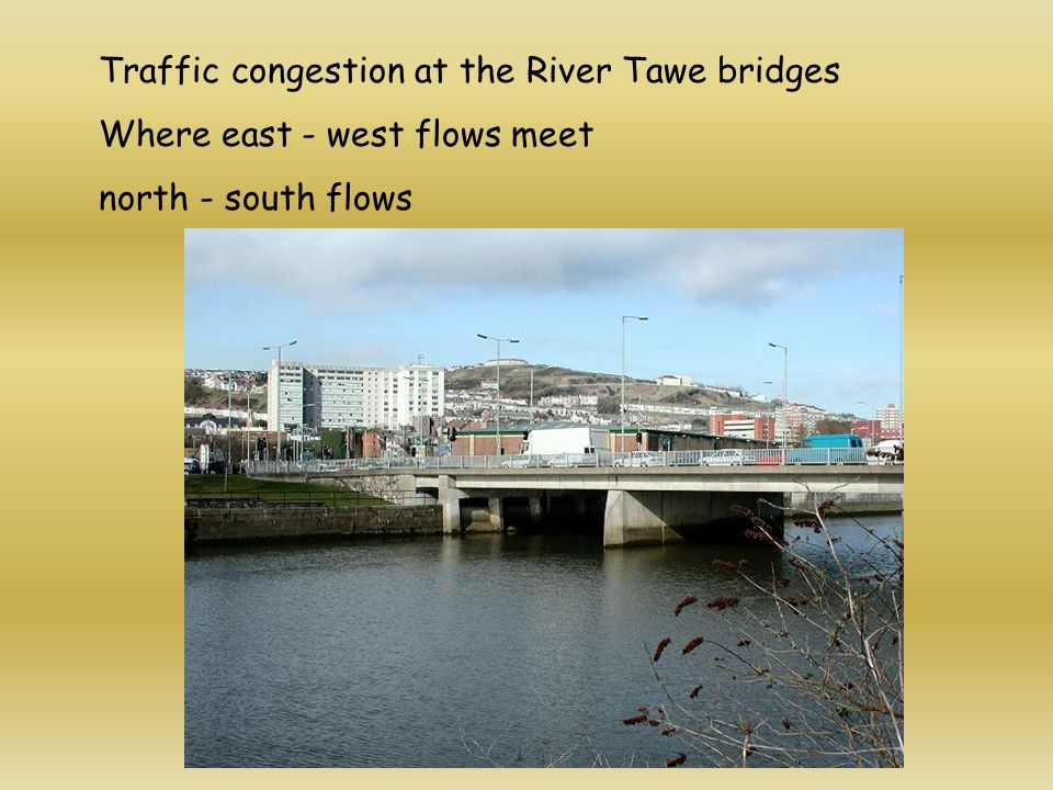 Traffic congestion at the River Tawe bridges