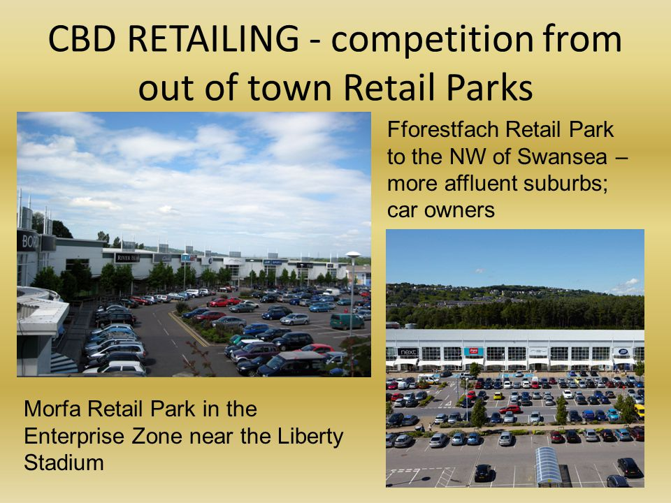 CBD RETAILING - competition from out of town Retail Parks