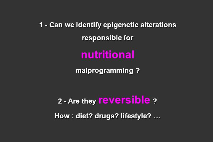 nutritional 1 - Can we identify epigenetic alterations responsible for
