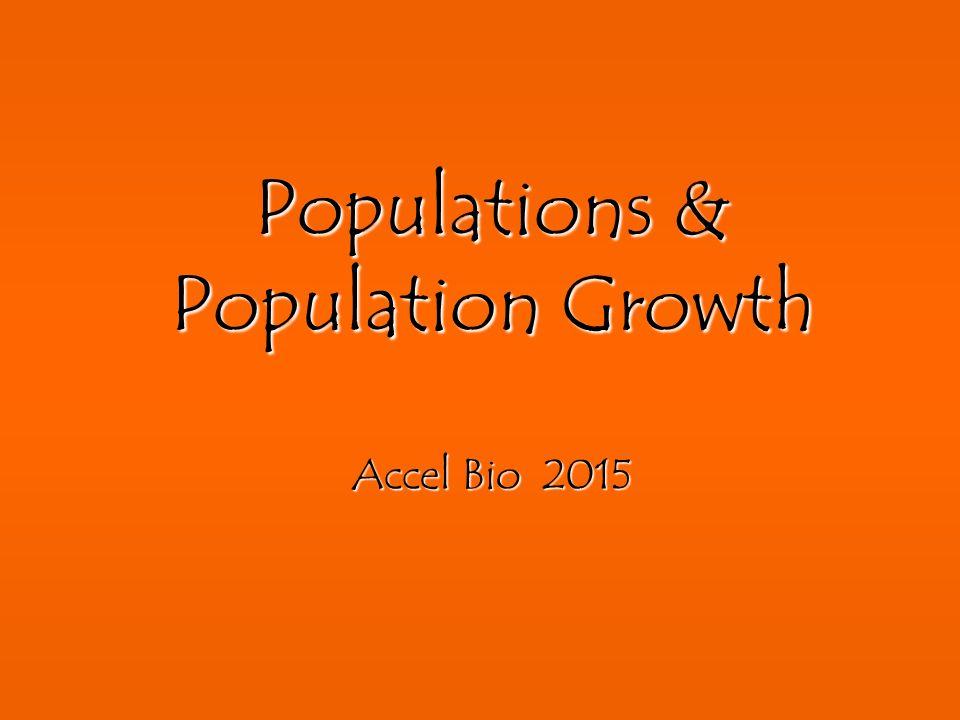 Populations & Population Growth Accel Bio 2015