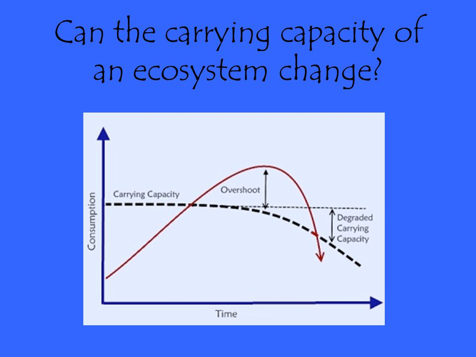 Can the carrying capacity of an ecosystem change
