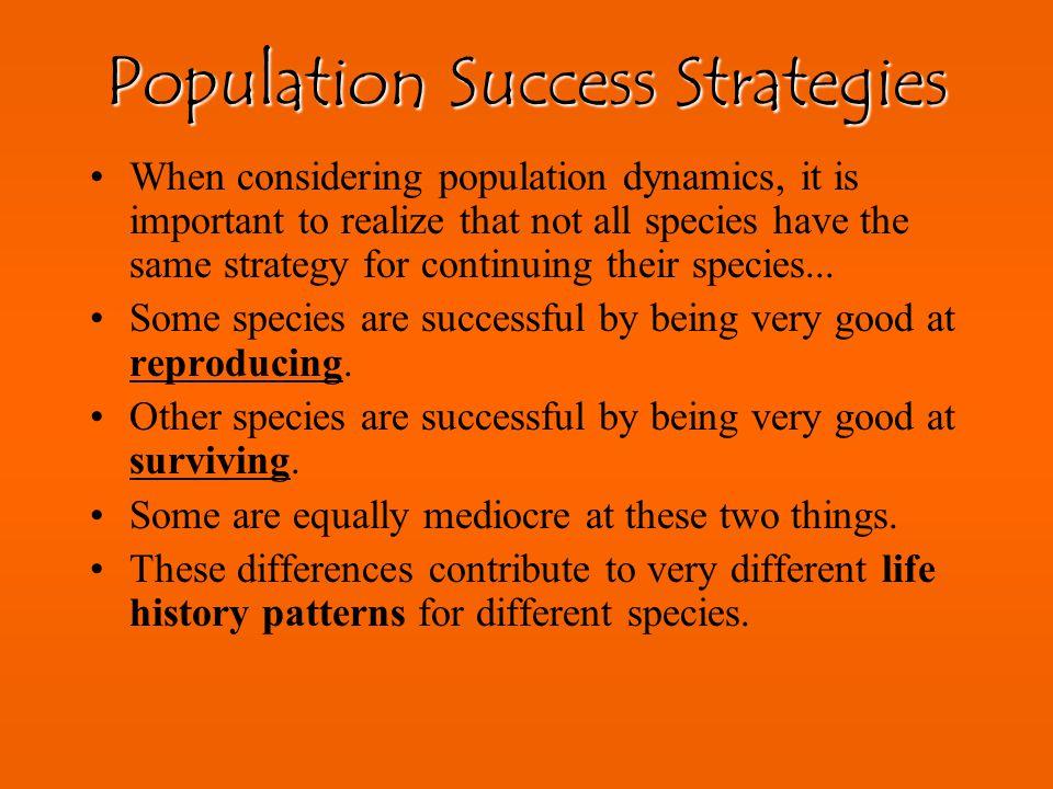 Population Success Strategies