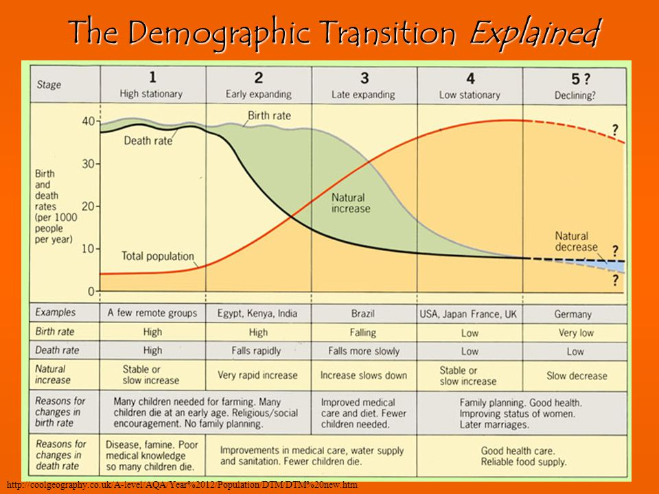 The Demographic Transition Explained