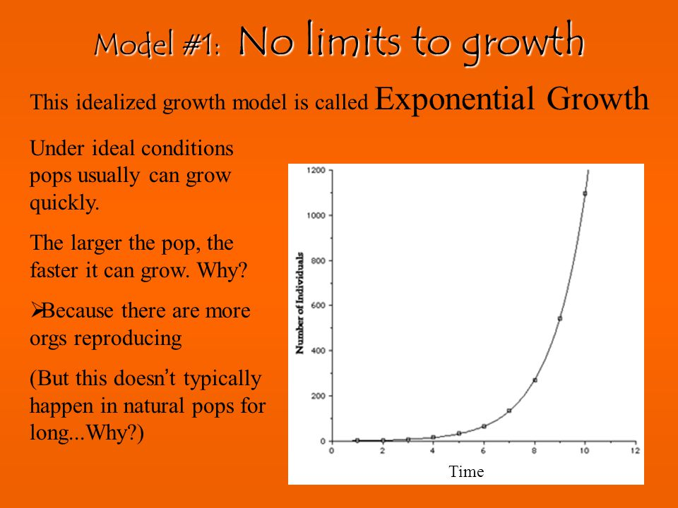 Model #1: No limits to growth
