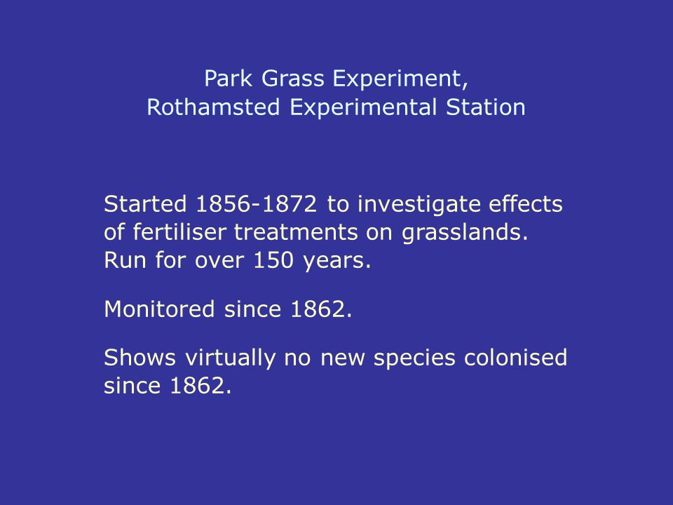 Park Grass Experiment, Rothamsted Experimental Station
