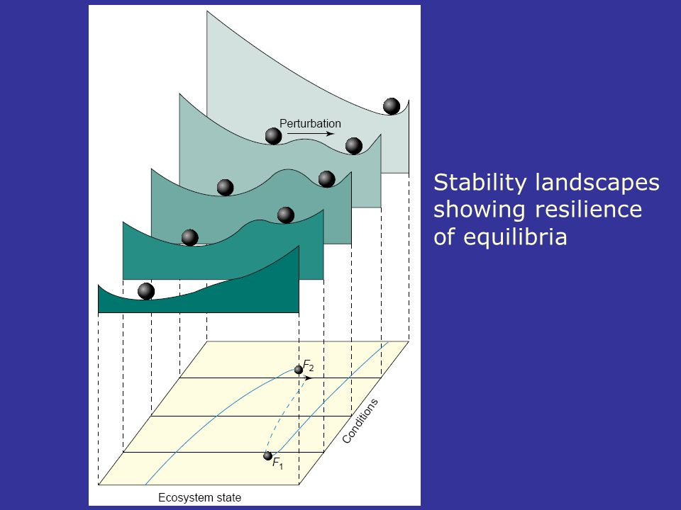 Stability landscapes showing resilience of equilibria