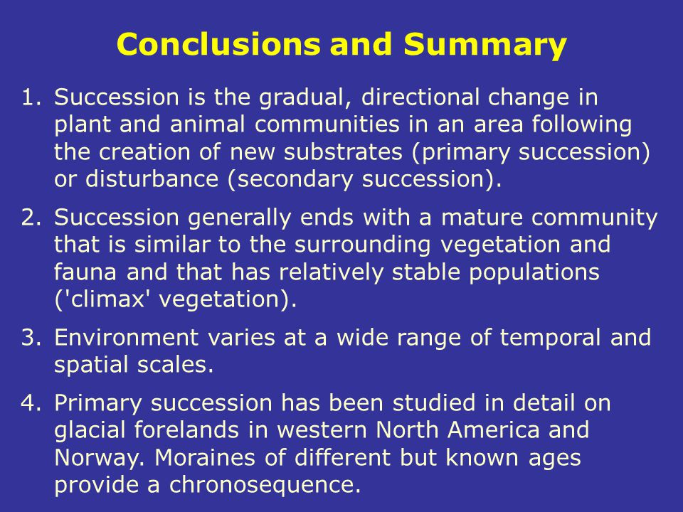 Conclusions and Summary