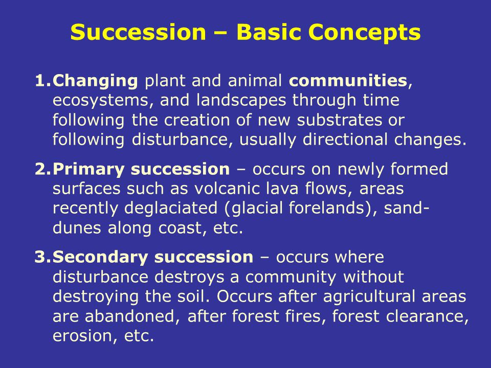 Succession – Basic Concepts