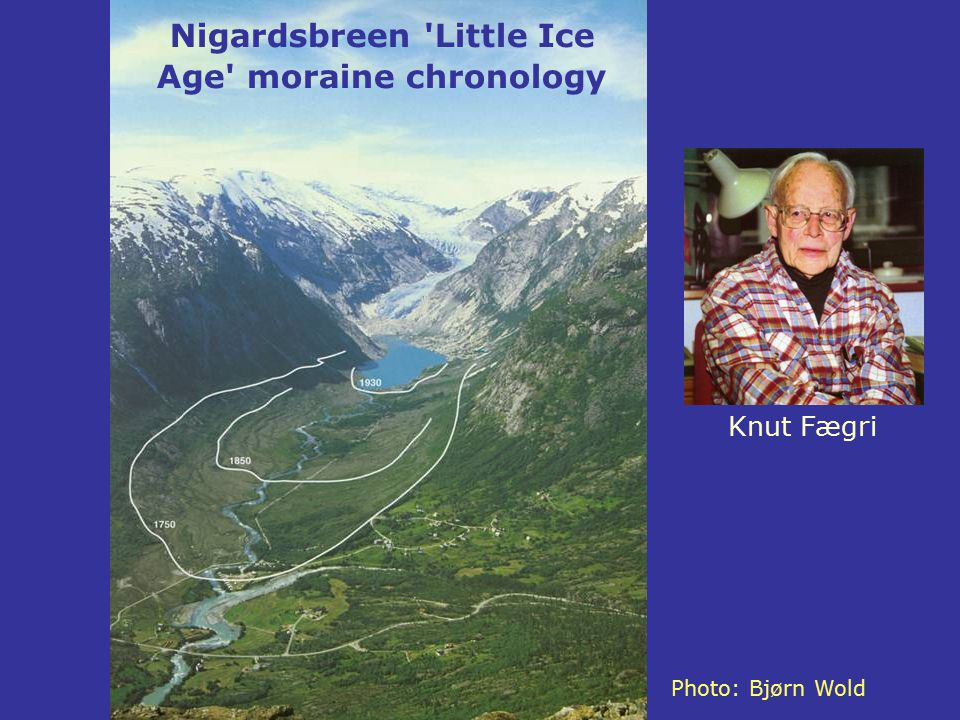 Nigardsbreen Little Ice Age moraine chronology