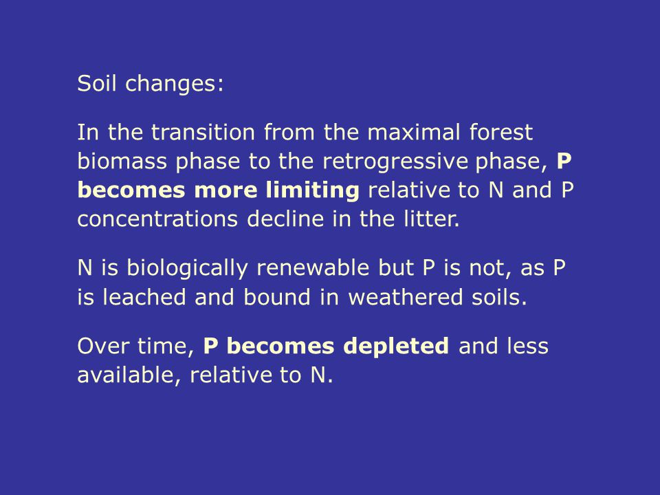 Soil changes: