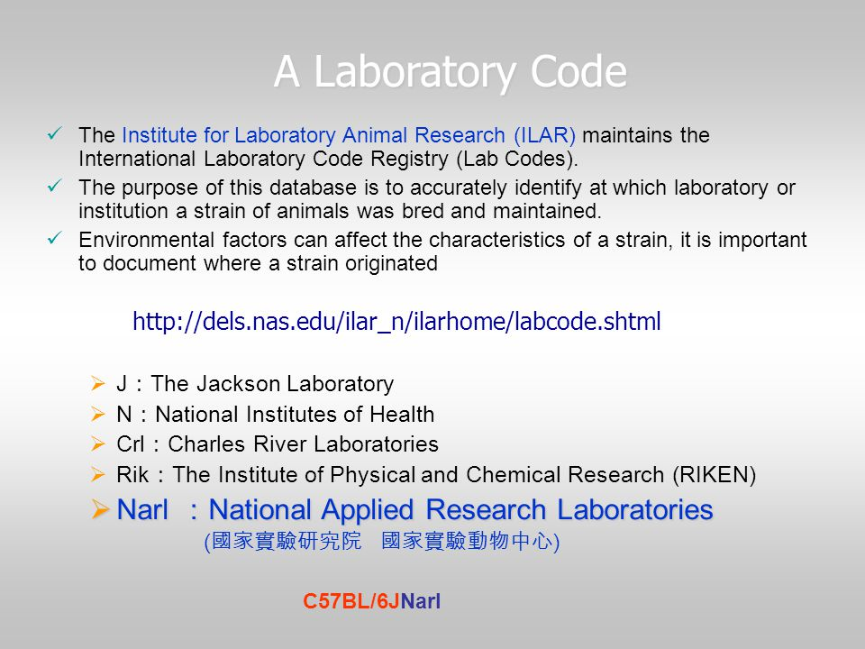 A Laboratory Code Narl :National Applied Research Laboratories