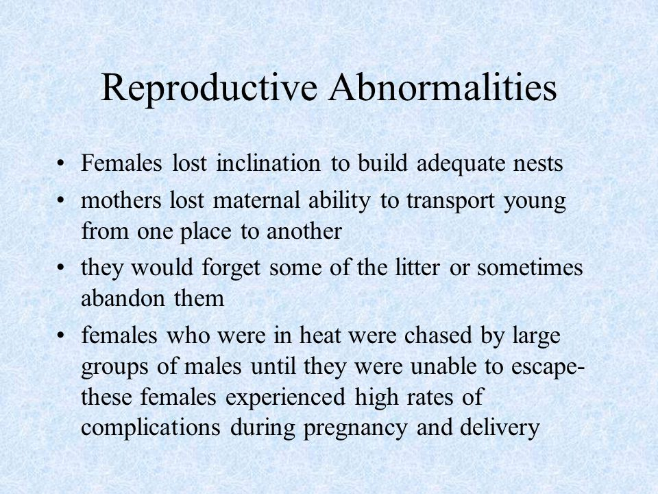 Reproductive Abnormalities