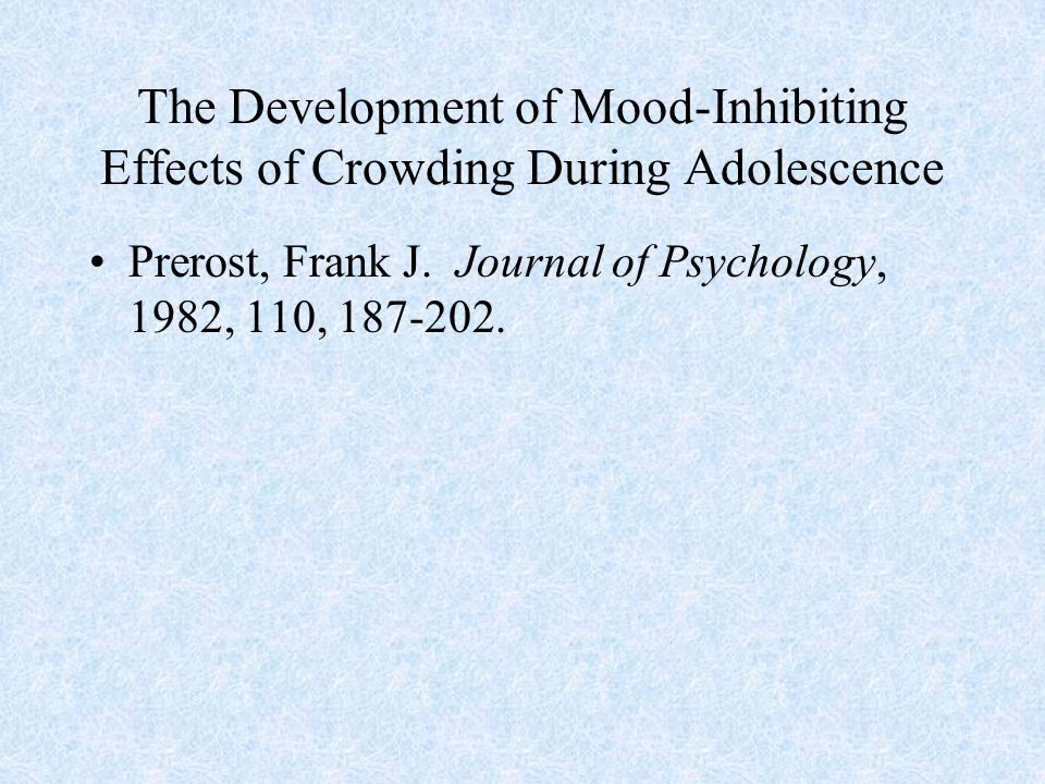 The Development of Mood-Inhibiting Effects of Crowding During Adolescence