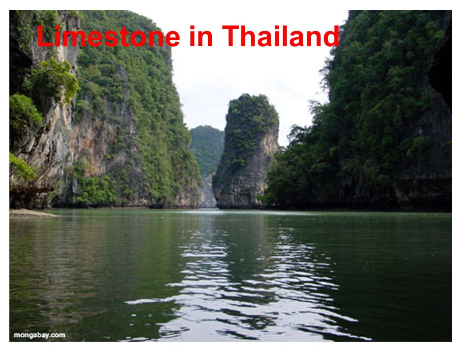 Limestone in Thailand