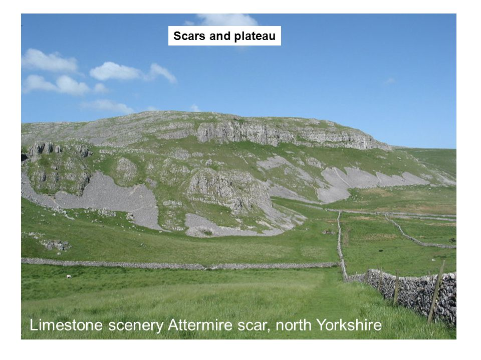 Limestone scenery Attermire scar, north Yorkshire