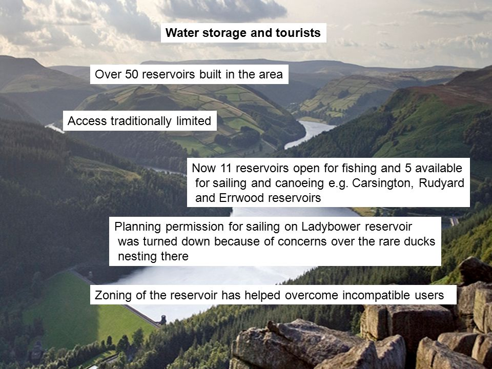Water storage and tourists
