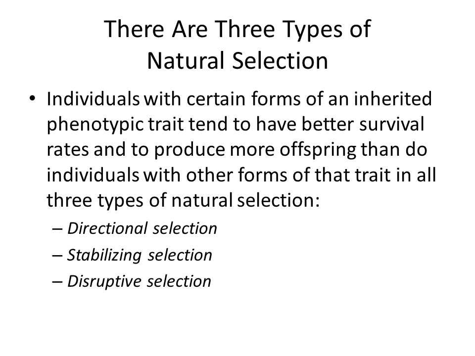 There Are Three Types of Natural Selection