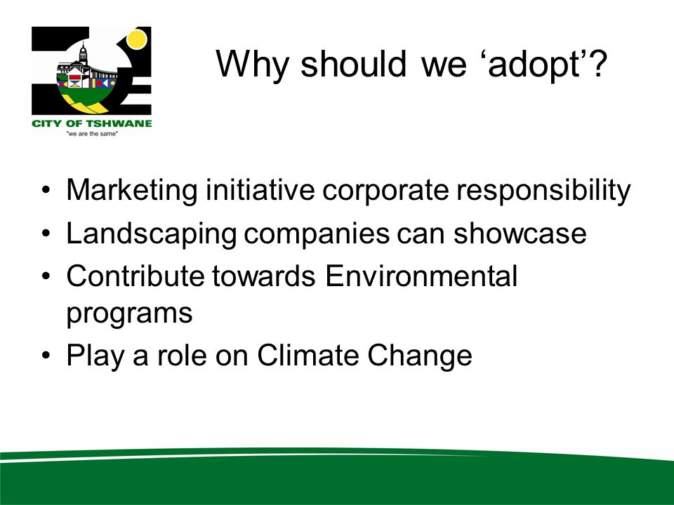 Why should we 'adopt' Marketing initiative corporate responsibility