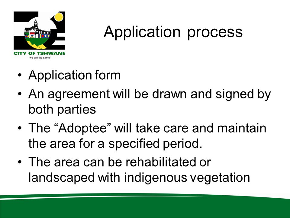 Application process Application form