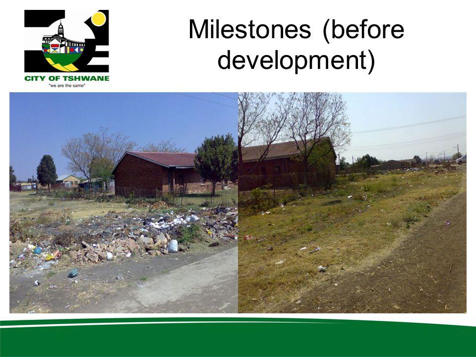 Milestones (before development)