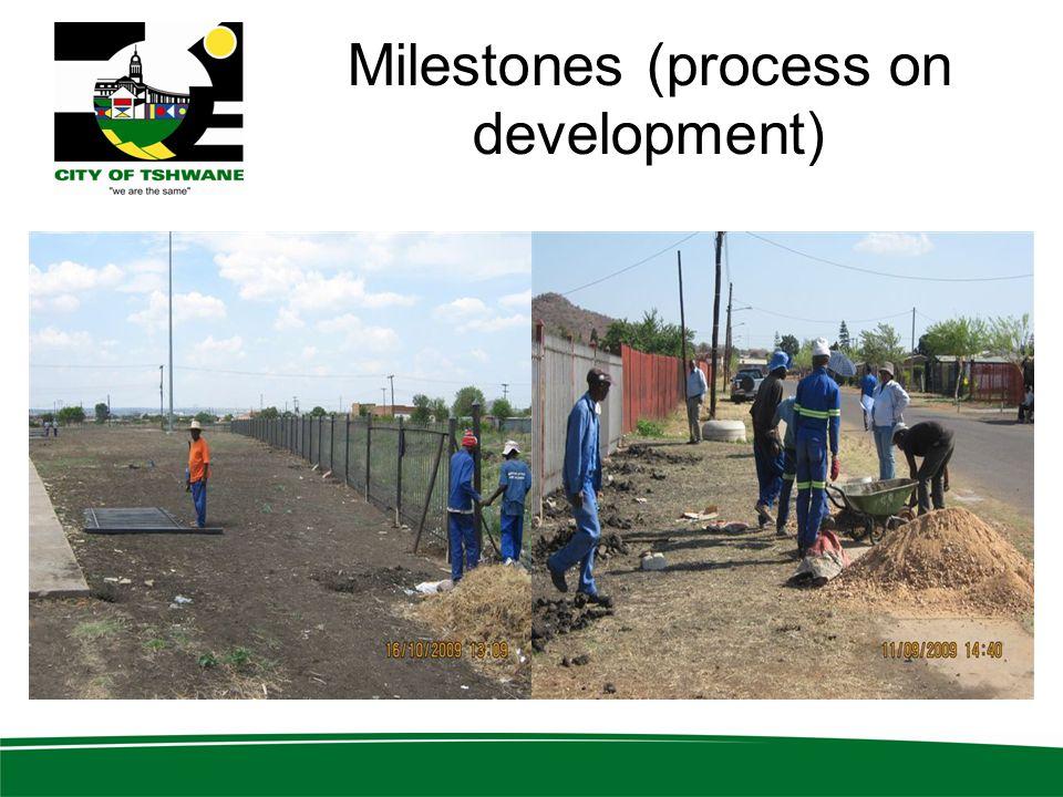 Milestones (process on development)