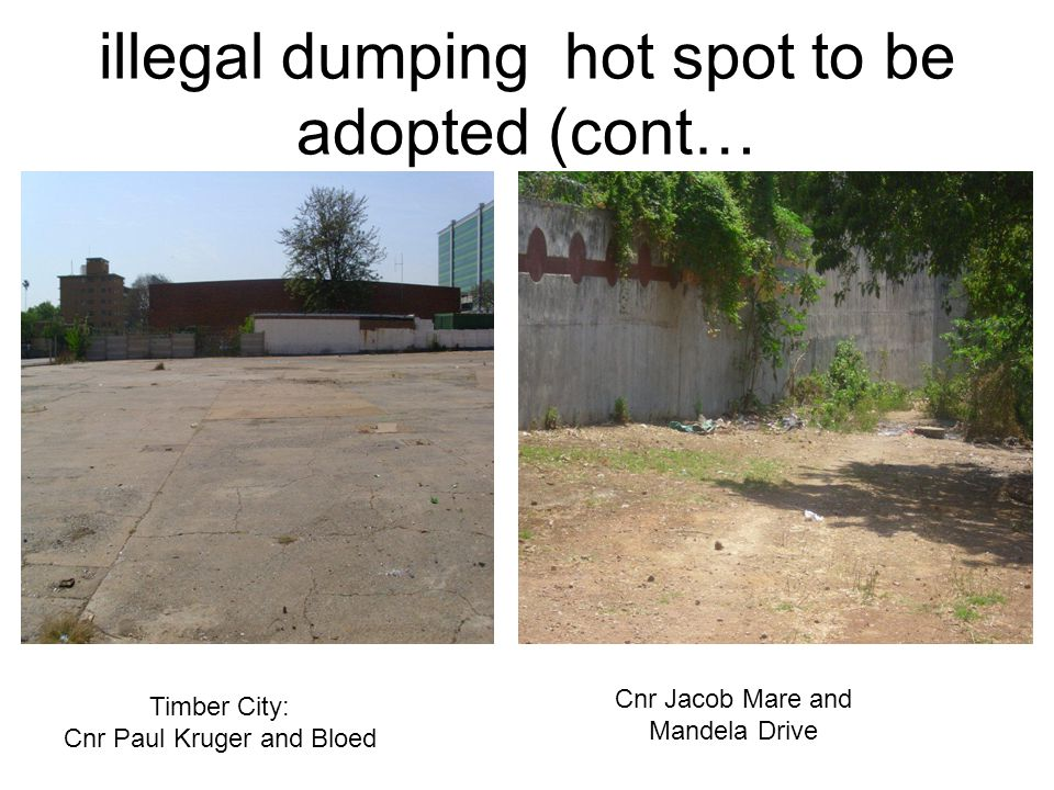 illegal dumping hot spot to be adopted (cont…