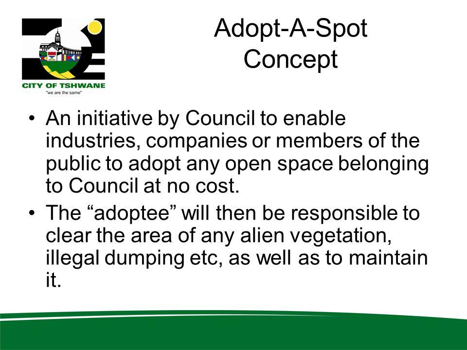 Adopt-A-Spot Concept